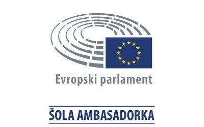 """Naša šola v projektu """"Šola ambasadorka Evropskega parlamenta"""""""