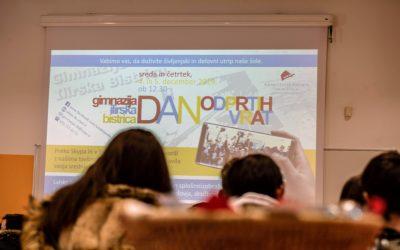 Na Gimnaziji Ilirska Bistrica smo na stežaj odprli vrata šole in bili veseli številnih obiskovalcev