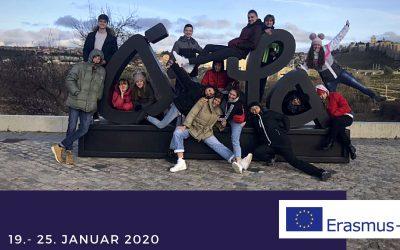 Postojnski gimnazijci v Španiji na mobilnosti Erasmus+, januar 2020